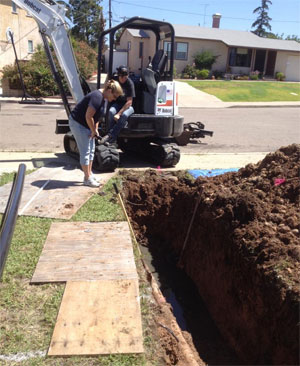 Trenching service in San Diego, CA