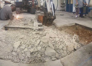 demolition in Lakeside, California