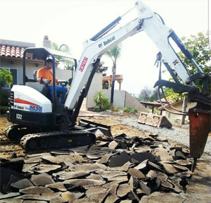 Bobcat Service and Concrete demolition in Santee, CA