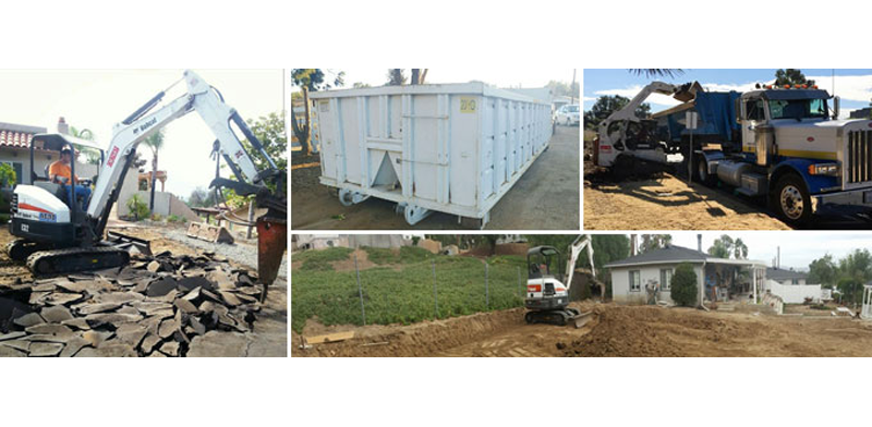 Demolition, Dumpster Rental and Bobcat Service in El Cajon, San Diego and Lakeside CA